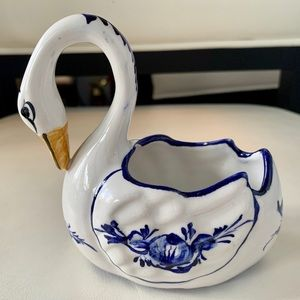Other - Hand painted Ceramic Swan, Portugal